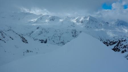 a beautiful skitouring in winter alps in austria Stock Photo