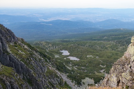 a beautiful summer landscape in Krkonose giant mountains in czechia