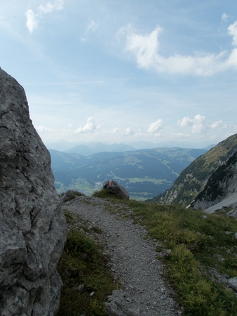 beautiful hiking and climbing in wilder kaiser in austria 版權商用圖片