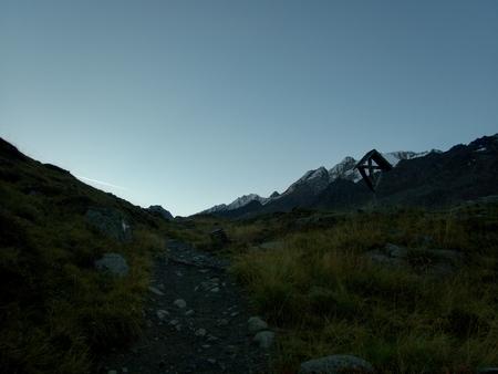 beautiful landscape of vallalungain italian alps in autumn Standard-Bild
