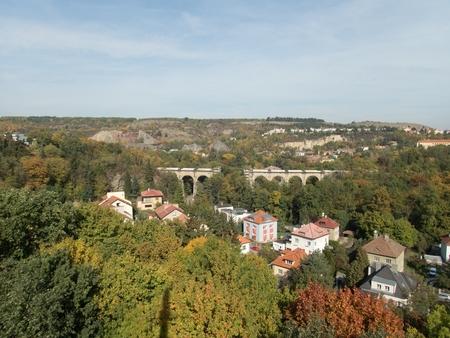 a beautiful landscape of prague surroundings in czechia