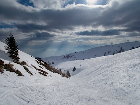 a beautiful winter skiins season in sar planina mountains in macedonia Reklamní fotografie - 119581852