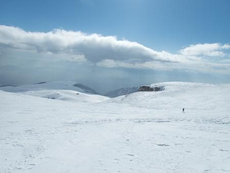 a beautiful winter skiins season in sar planina mountains in macedonia Reklamní fotografie - 119581994