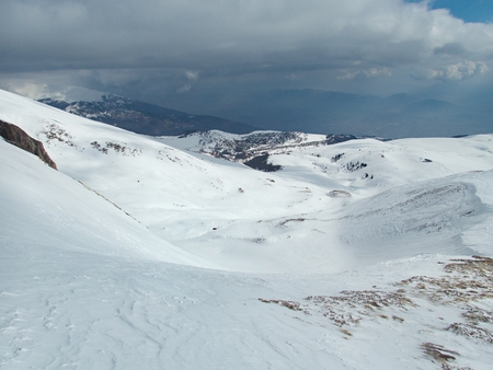 a beautiful winter skiins season in sar planina mountains in macedonia Reklamní fotografie - 119581992