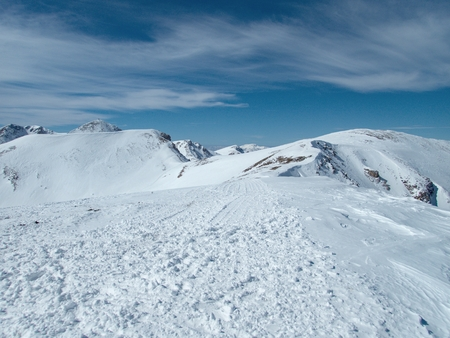 a beautiful winter skiins season in sar planina mountains in macedonia Reklamní fotografie - 119582131