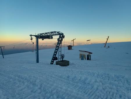 a beautiful winter skiins season in sar planina mountains in macedonia Reklamní fotografie - 119582222