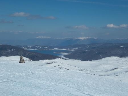 a beautiful winter skiins season in sar planina mountains in macedonia Reklamní fotografie - 119579381