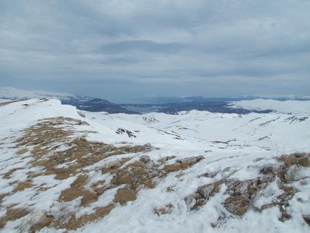 a beautiful winter skiins season in sar planina mountains in macedonia Reklamní fotografie - 119582470
