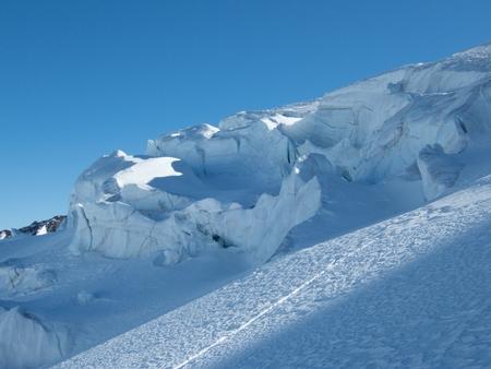 beautiful snowy winter landscape for skitouring in otztal alps in tirol austria