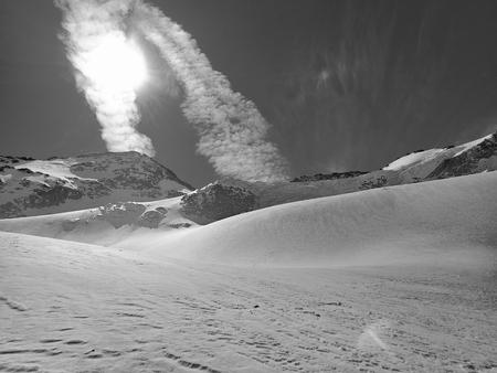beautiful snowy winter landscape for skitouring in otztal alps in tirol austria Stock Photo