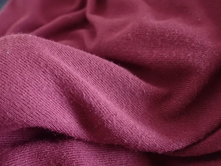 a close detail of a fabric texture Stock Photo
