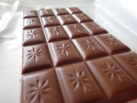 detail of  plenty of brown sweet chocolate for dessert