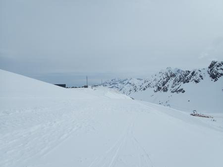 winter season climbing weisseespitze in kaunertal gletcherarea in austrian alps Reklamní fotografie