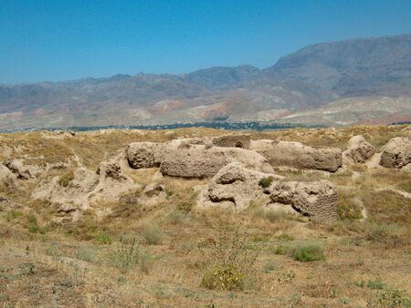 archeological site of ancient panjakent in tajikistan in central asia