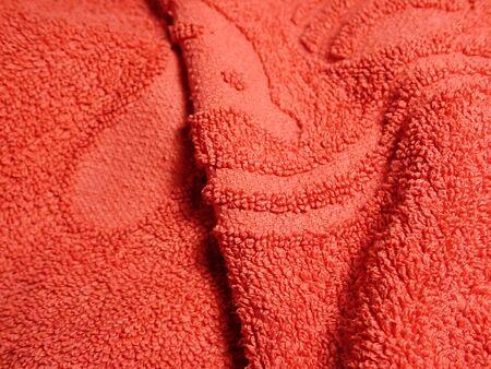 ein enges Detail einer Kleidungsstoffstruktur