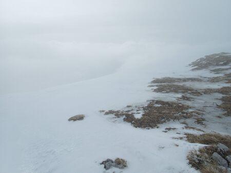 beautiful skitouring mountain terrain in winter landscape tennengebirge in austrian alps Stok Fotoğraf