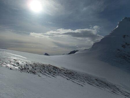 beautiful skitouring mountain terrain in winter landscape tennengebirge in austrian alps Reklamní fotografie