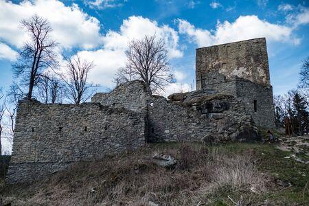 famous vitkuv hradek castle ruin in sumava in southern bohemia Reklamní fotografie
