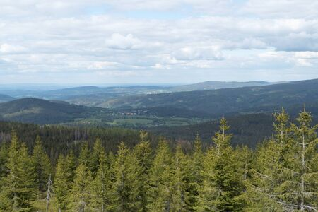 beautiful green natural landscape in sumava national park i czechia