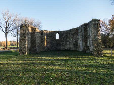 ruin of a churchin jindrichovice pod smrkem in northern bohemia