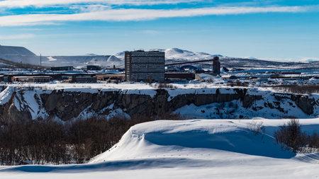 industrial iron ore mine in kiruna northern sweden Foto de archivo