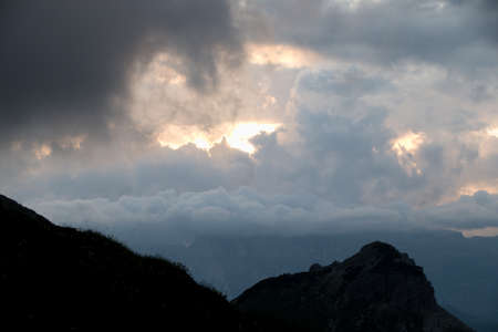 beautiful landscape summer view in dolomites in italy Archivio Fotografico