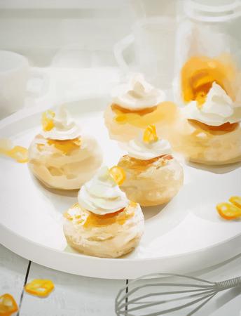 corolla: Kumquat muffins Stock Photo