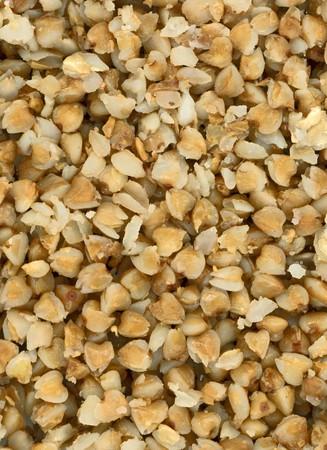kasha: Background texture of traditional buckweat kasha (porrige) Stock Photo