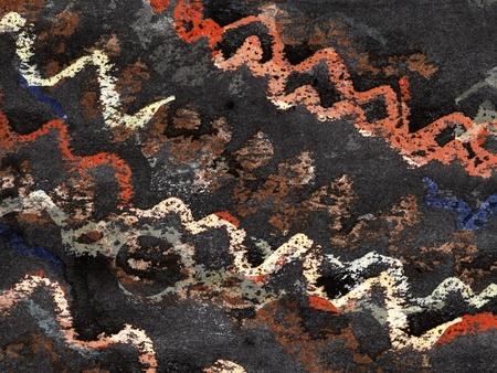 aquarel: Expressive pastel strokes paper, painted with black aquarel Stock Photo