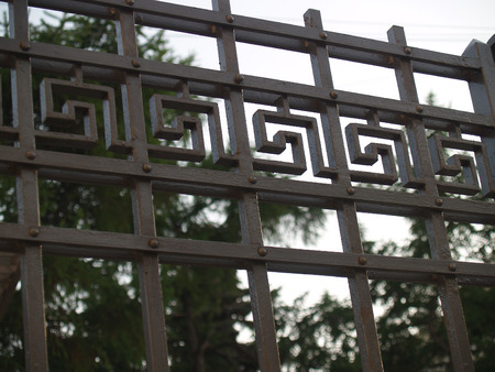 rejas de hierro: Detalle de las barras de hierro ciudades