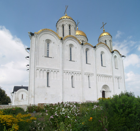 folliage: Scenic view of Church in folliage in Vladimir, Golden Ring