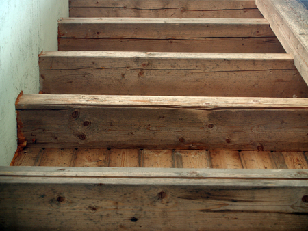 balk: The weathered wooden ceiling beam