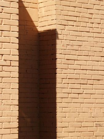 parget: Closeup of a surface of red brick wall