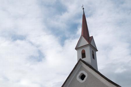 Peculiar bell tower of Vipiteno Church, Alto AdigeSudtirol region.