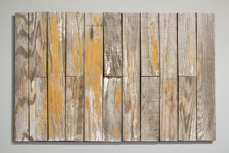 Old vintage wood sing with grey background.
