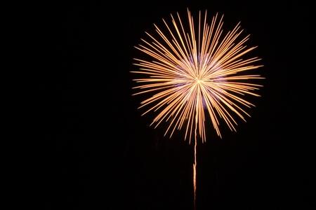honoring: Fireworks celebration honoring King Stock Photo