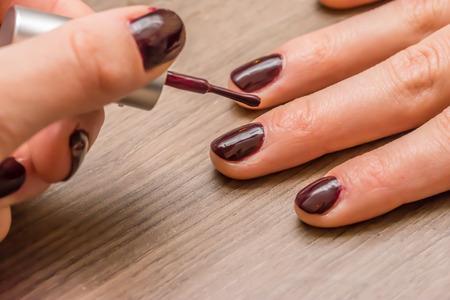 Polishing Nails photo