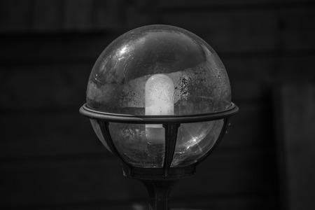 garden lamp: Garden lamp in black and white