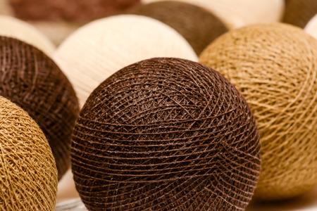 gomitoli di lana: Palline di lana Archivio Fotografico
