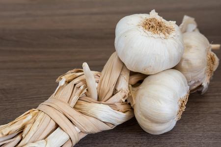 Organic garlic braid