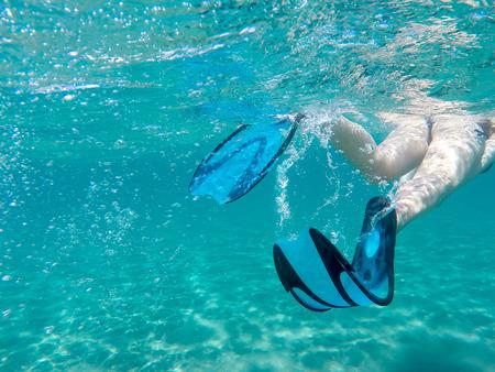 flippers: Aletas en movimiento a trav�s del agua