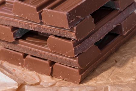 Chocolate stacked Stock fotó