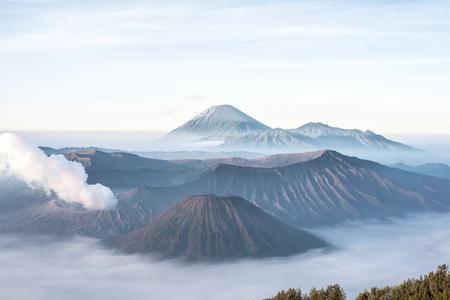 Mount Bromo, volcano on Java in Indonesia Stock fotó