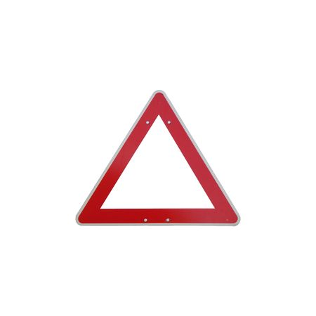 signo de calle, rect�ngulo sobre fondo blanco