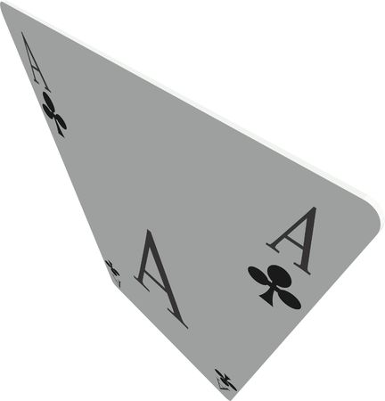 ace of cross based on a white background