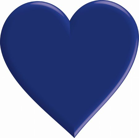blue heart based on a neutral background