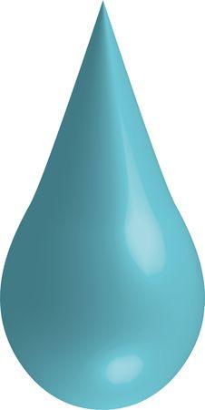 una gota de agua que se basa en un fondo neutro