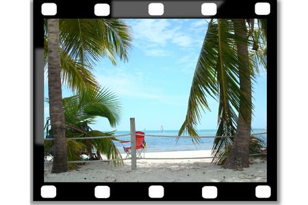 filmstrip , showing a picture of a summer holliday Stock Photo