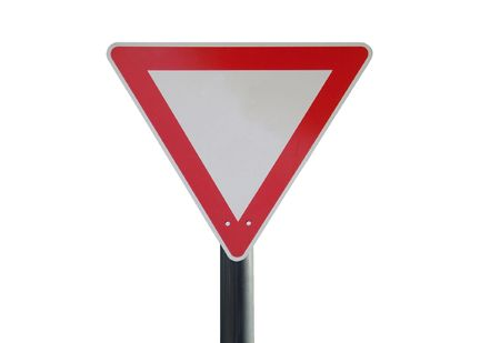 traffic sign in front of a neutral background