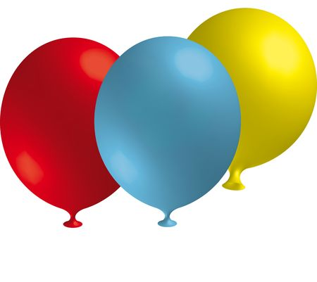 balloons in front of a white background